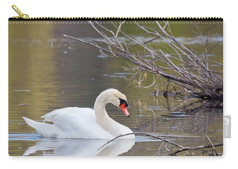 Mute Swans Carry-all Pouch featuring the photograph Mute Swan by Karen Jorstad