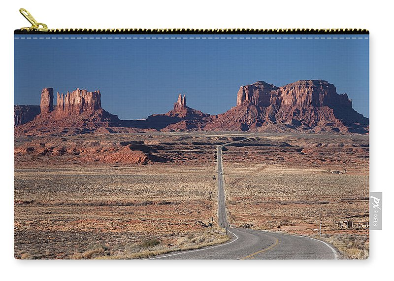 Forest Gump Carry-all Pouch featuring the photograph Mv Forest Gump View 7678 by Bob Neiman