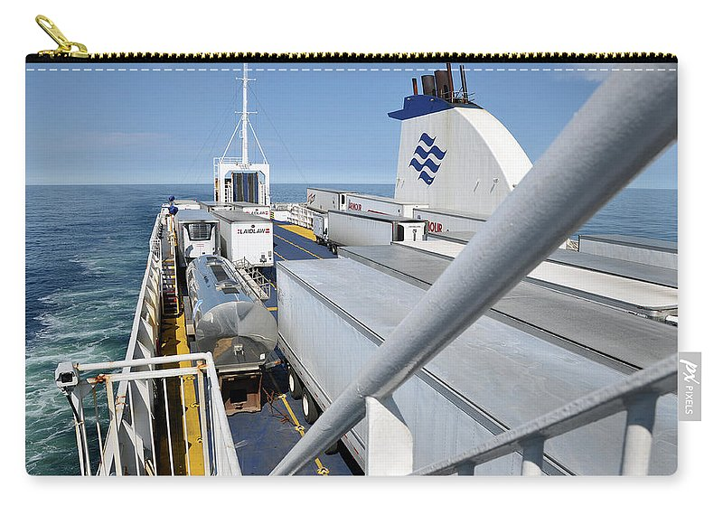 Ferry Carry-all Pouch featuring the photograph Mv Highlanders by Colleen English