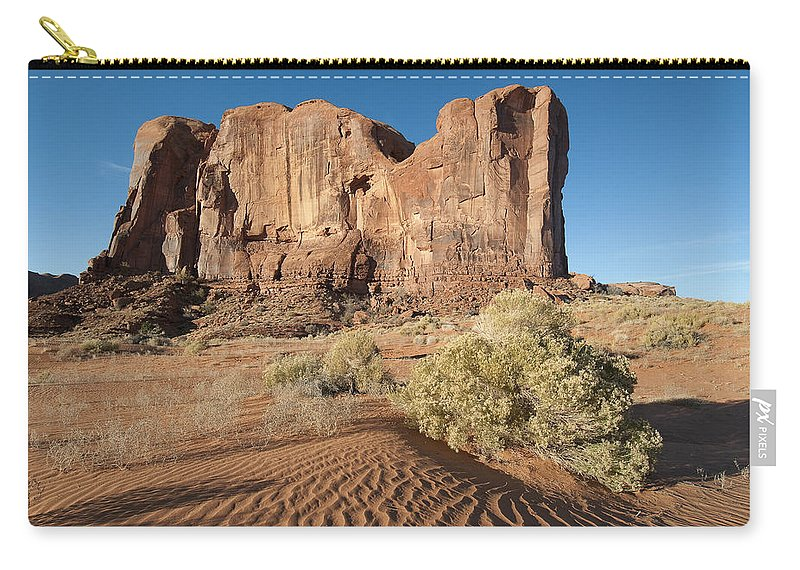 Monument Carry-all Pouch featuring the photograph Mv Mesa 7328 by Bob Neiman
