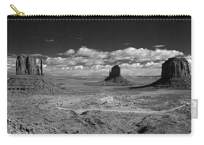 Merrick Carry-all Pouch featuring the photograph Mv Mittens And Merrick Butte Ir 0561 by Bob Neiman
