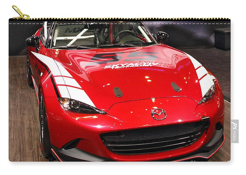 Auto Carry-all Pouch featuring the photograph Mx5 Race Car by Alan Look