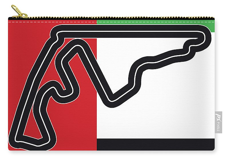 Yas Carry-all Pouch featuring the digital art My Abu Dhabi Grand Prix Minimal Poster by Chungkong Art