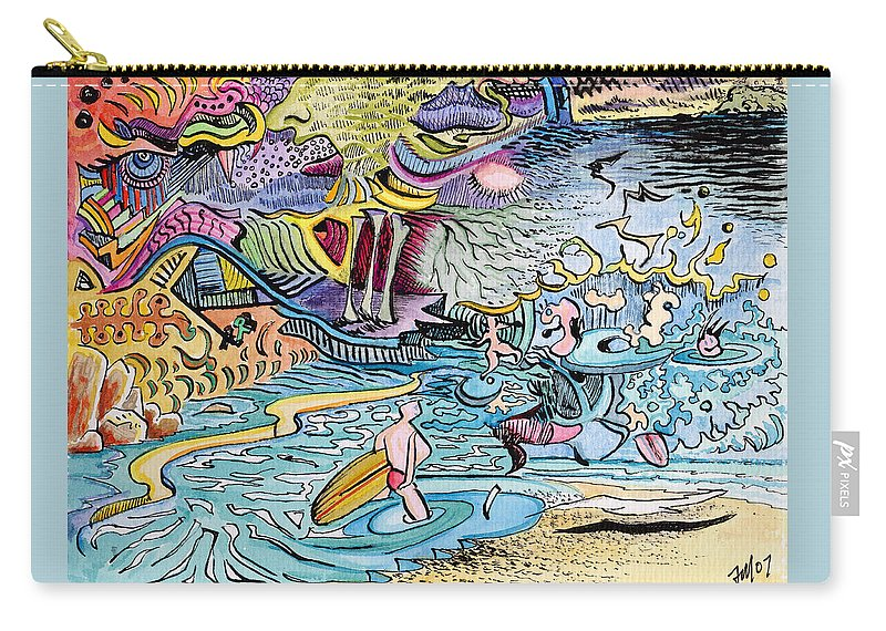 Australia; Joe Michelli; Surreal Watercolor Carry-all Pouch featuring the painting My Australian Experience by Joe Michelli