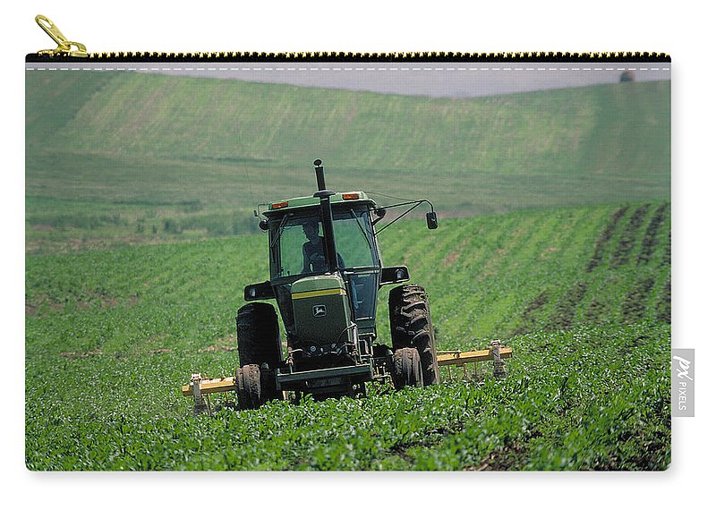 Tractor Carry-all Pouch featuring the photograph My Big Green Tractor by Garry McMichael