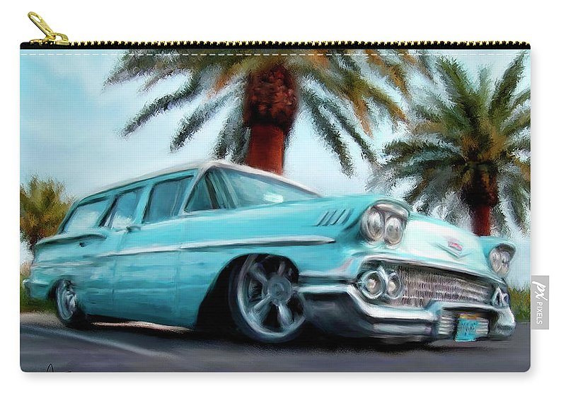 Cars Carry-all Pouch featuring the painting My Blue Heaven by Colleen Taylor