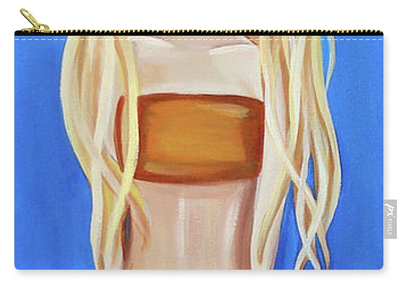 Original Carry-all Pouch featuring the painting My Blue Ringed Friends by Jaz Higgins
