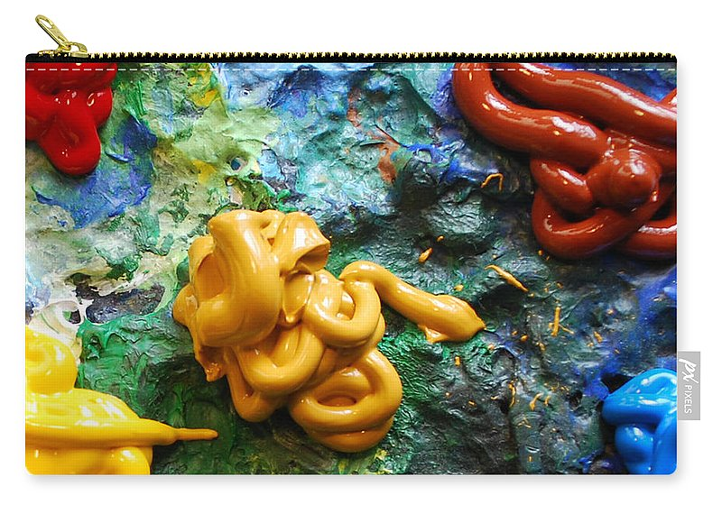 Palette Carry-all Pouch featuring the photograph My Colorful Palette by Nancy Mueller