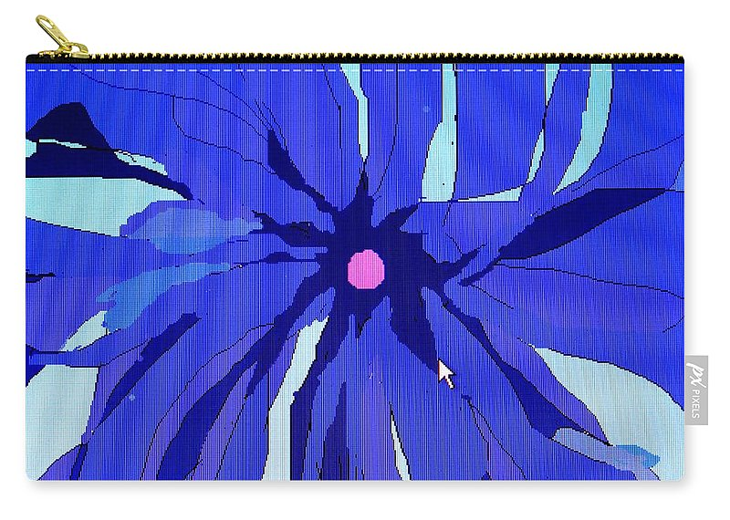 Flower Carry-all Pouch featuring the digital art My Fantastic Flower by Ian MacDonald