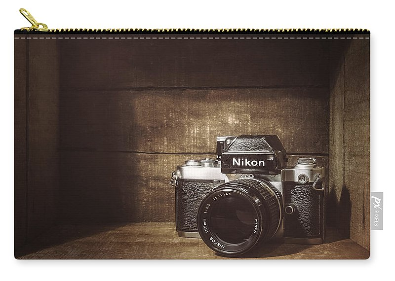 Nikon F2 Carry-all Pouch featuring the photograph My First Nikon Camera by Scott Norris
