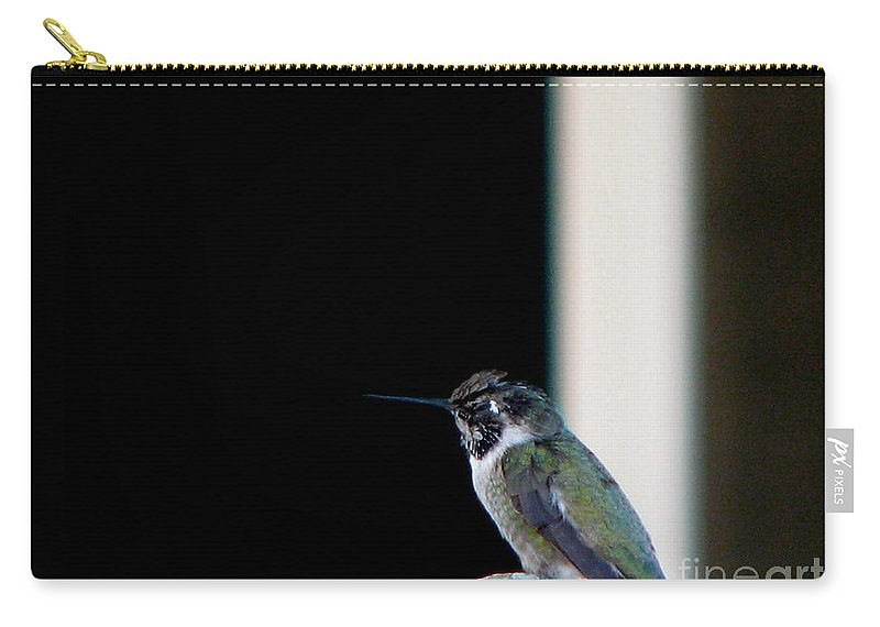 Patzer Carry-all Pouch featuring the photograph My Friend Stop By by Greg Patzer