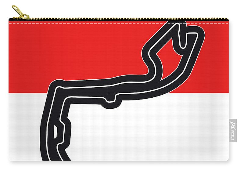 De Carry-all Pouch featuring the digital art My Grand Prix De Monaco Minimal Poster by Chungkong Art