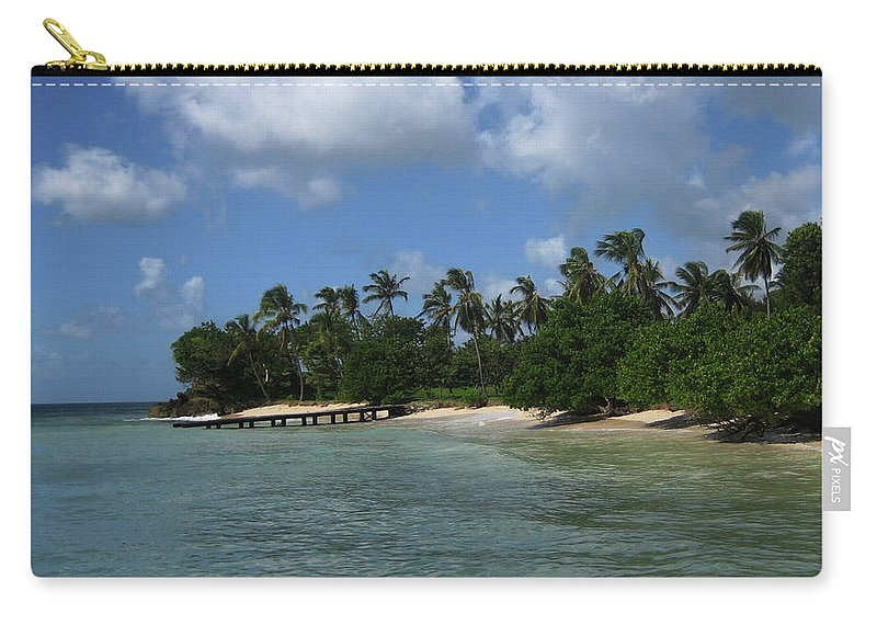 Beach Carry-all Pouch featuring the photograph My Happy Place by Lori Tambakis