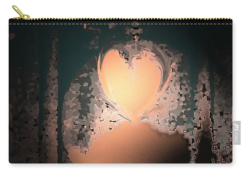 Abstract Carry-all Pouch featuring the photograph My Heart Is On The Moon by Lenore Senior