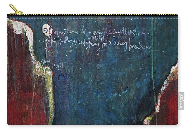 Love Carry-all Pouch featuring the painting My Heart by Laurie Maves ART