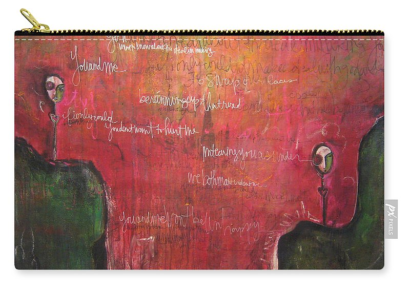 Laurie Maves Carry-all Pouch featuring the painting My Hill Painting by Laurie Maves ART