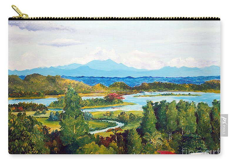 Hills Carry-all Pouch featuring the painting My Homeland by Jason Sentuf