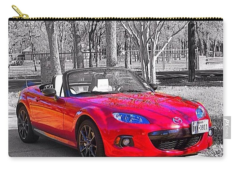 Happiness Carry-all Pouch featuring the photograph My Idea Of #happiness And #instafun On by Austin Tuxedo Cat