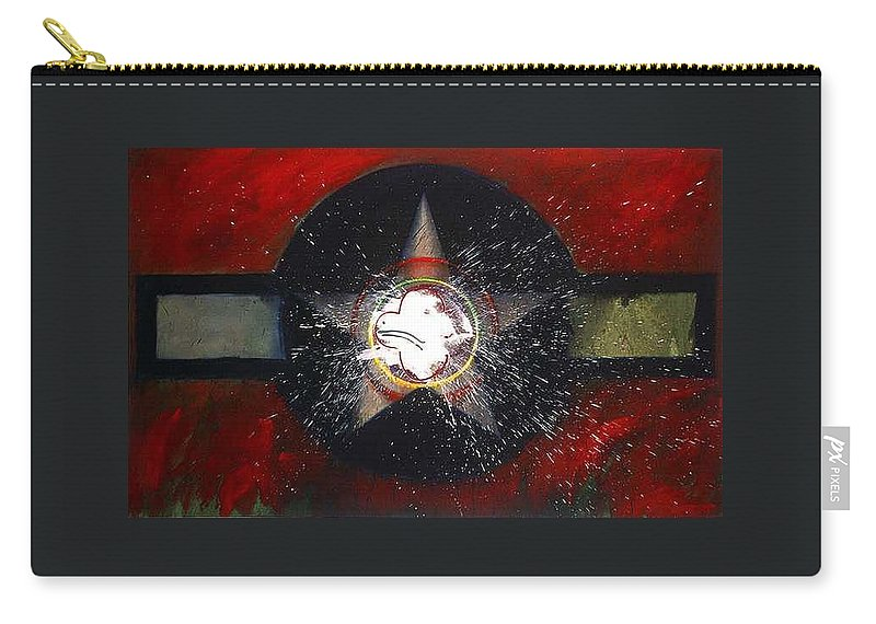 Usaaf Insignia Carry-all Pouch featuring the painting My Indian Red by Charles Stuart