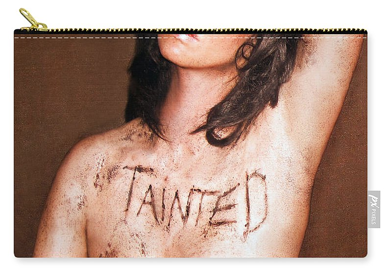 Jaeda Dewalt Carry-all Pouch featuring the photograph My Invisible Tattoos - Self Portrait by Jaeda DeWalt