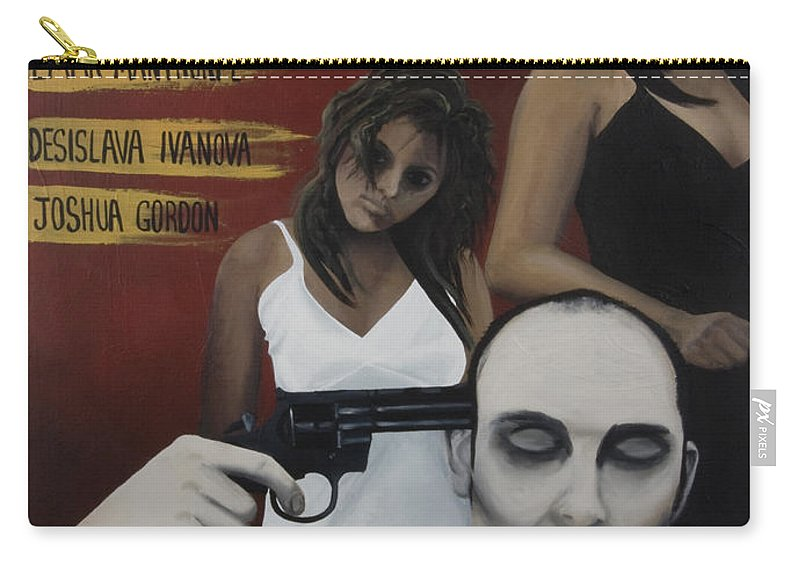 Movie Poster Carry-all Pouch featuring the painting My Life Oh Roulette by Kelly Jade King