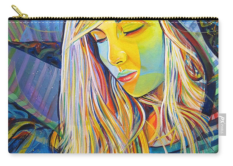 Colorful Carry-all Pouch featuring the painting My Love by Joshua Morton