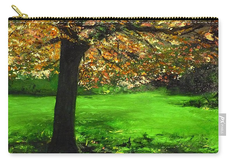 Spiritualism Carry-all Pouch featuring the painting My Love Of Trees I by Lizzy Forrester