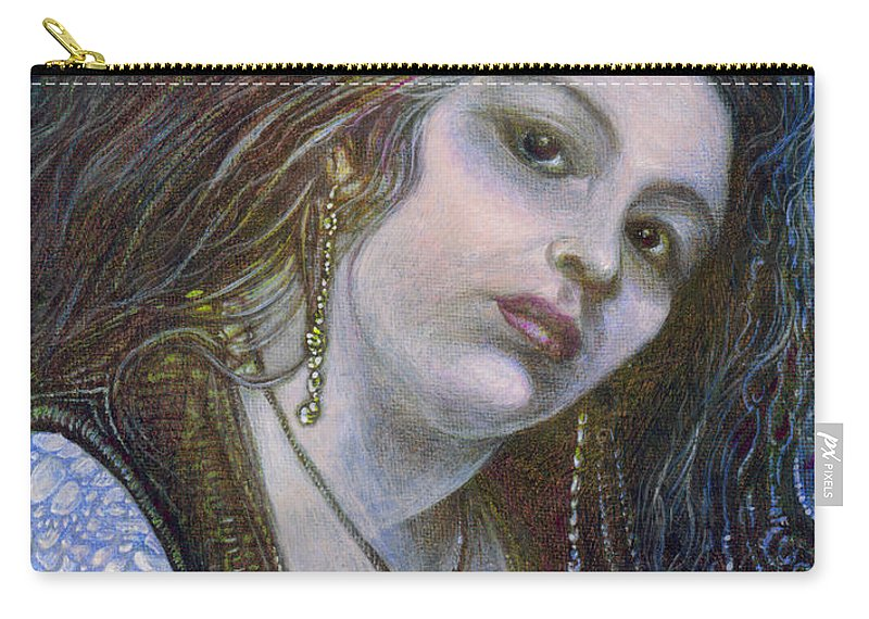 Fantasy Carry-all Pouch featuring the painting My Mermaid Christan by Otto Rapp