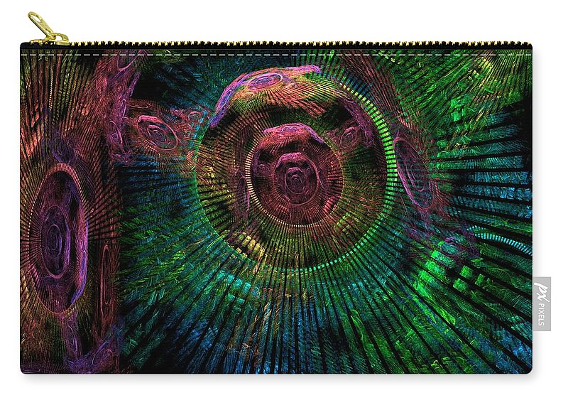 Fractal Carry-all Pouch featuring the digital art My Mind's Eye by Lyle Hatch