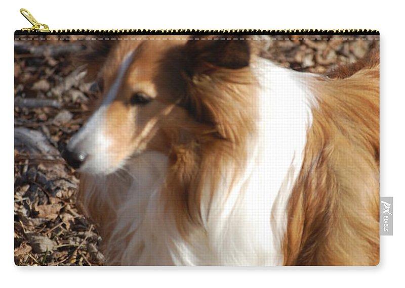 Dog Carry-all Pouch featuring the digital art My New Best Friend by David Lane