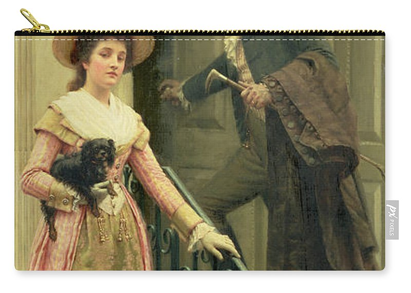 My Next-door Neighbour Carry-all Pouch featuring the painting My Next Door Neighbor by Edmund Blair Leighton