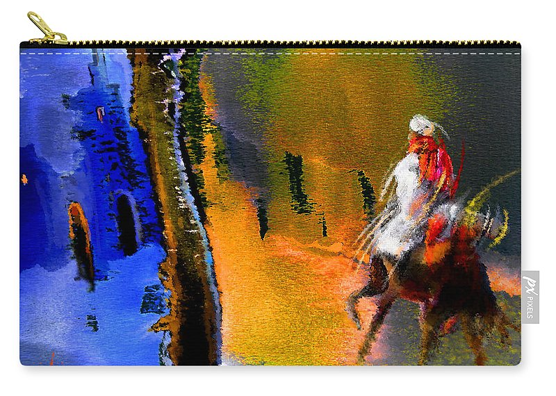 Dream Carry-all Pouch featuring the painting My Oasis by Miki De Goodaboom