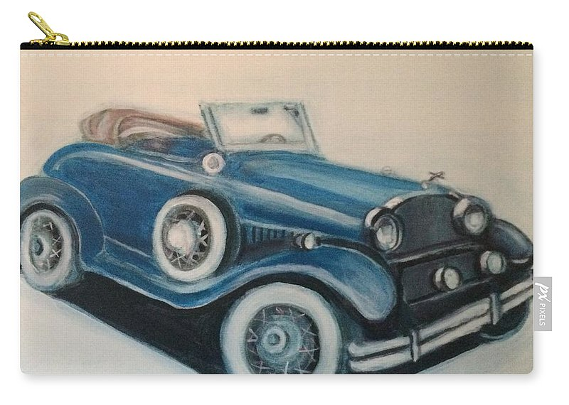 Cars Carry-all Pouch featuring the mixed media My Ride 2 by Walter M Davis