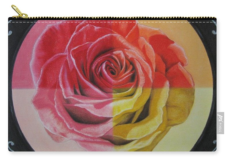 Rose Carry-all Pouch featuring the painting My Rose by Lynet McDonald