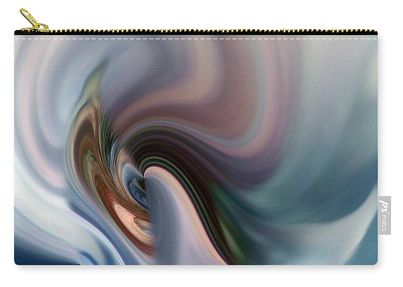 Abstract Carry-all Pouch featuring the digital art My Soft Atmosphere by Lex Halakan