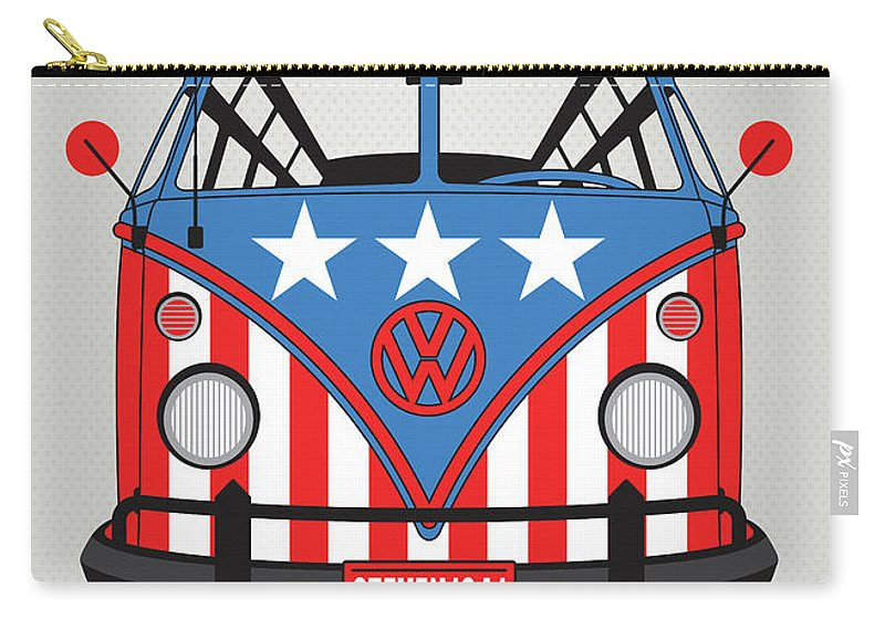 Superheroes Carry-all Pouch featuring the digital art My Superhero-vw-t1-cap America by Chungkong Art