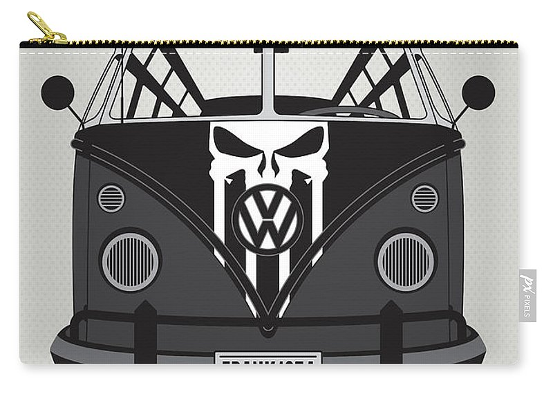 Superheroes Carry-all Pouch featuring the digital art My Superhero-vw-t1-punisher by Chungkong Art