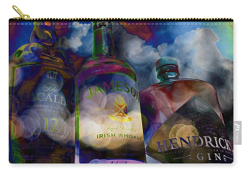 Jameson Carry-all Pouch featuring the digital art My Three Friends by Matty Archer