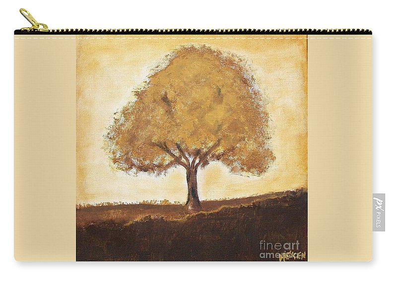 Painting Carry-all Pouch featuring the painting My Tree by Marsha Heiken