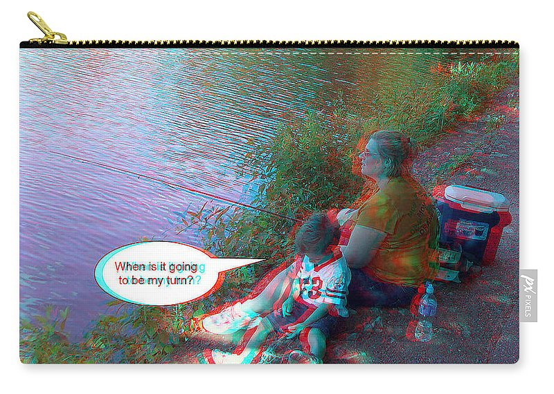 3d Carry-all Pouch featuring the photograph My Turn by Brian Wallace