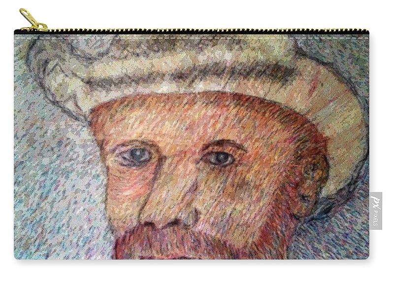 Van Gough Carry-all Pouch featuring the digital art My Van Gough2 by Carlos Laster