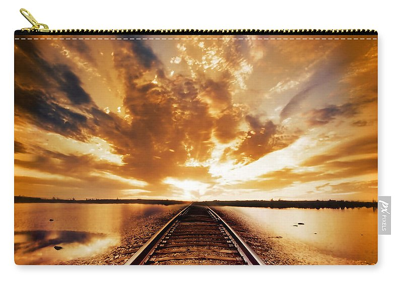 Water Carry-all Pouch featuring the photograph My Way by Jacky Gerritsen