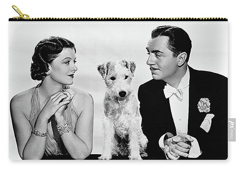 Myrna Loy Asta William Powell Publicity Photo The Thin Man 1936 Carry-all Pouch featuring the photograph Myrna Loy Asta William Powell Publicity Photo The Thin Man 1936 by David Lee Guss