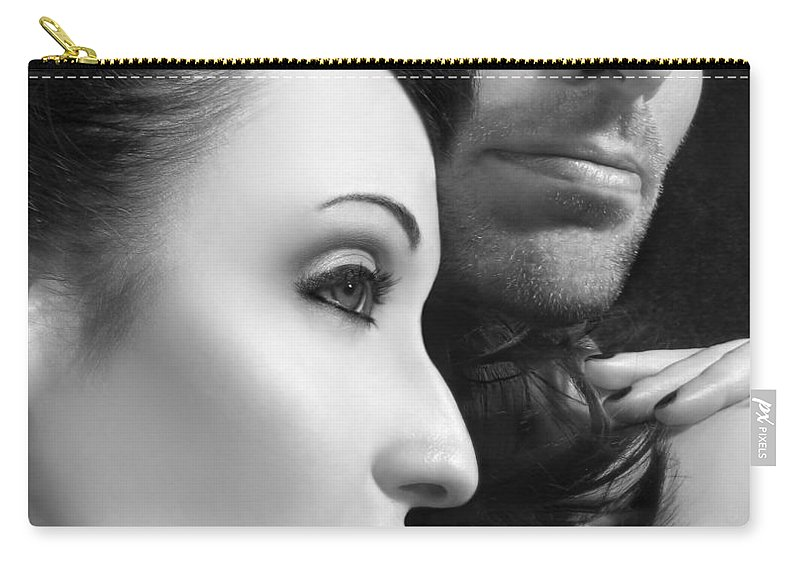 Affection Carry-all Pouch featuring the photograph Mysterious Love by Jaeda DeWalt