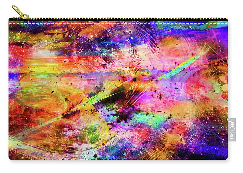 World's Carry-all Pouch featuring the digital art Mysterious Sunset Debris by Ron Fleishman