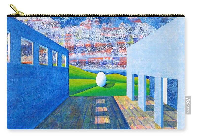 Surrealism Carry-all Pouch featuring the painting Mystery And Memory by Rollin Kocsis