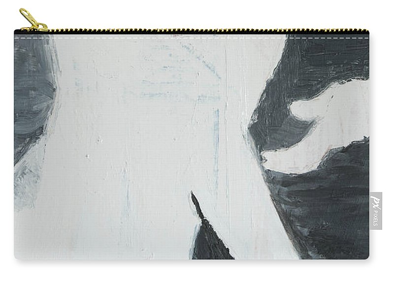 Man Carry-all Pouch featuring the painting Mystery Man by Craig Newland