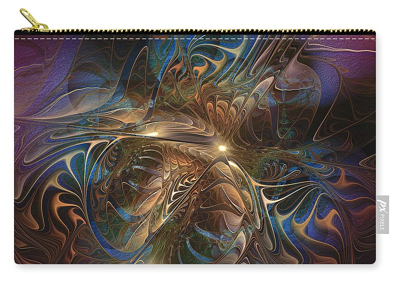 Abstract Carry-all Pouch featuring the digital art Mystery Spread Its Cloak by Casey Kotas