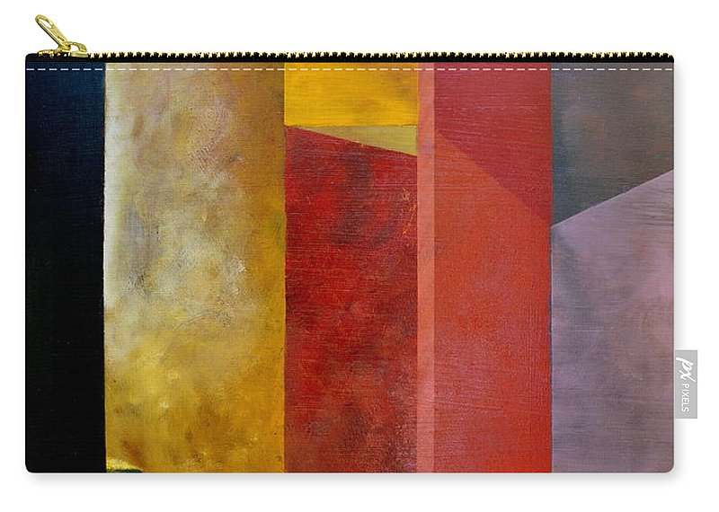 Gold Carry-all Pouch featuring the painting Mystery Stairway by Michelle Calkins