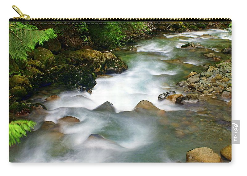 Creek Carry-all Pouch featuring the photograph Mystic Creek by Marty Koch